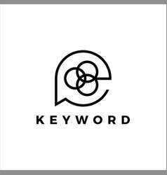 Keyword icon logo design vector