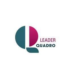 leader quadro abstract sign vector image