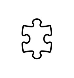 line puzzle icon on white background vector image