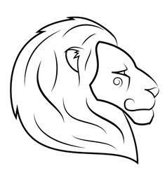 Lion head 2 vector