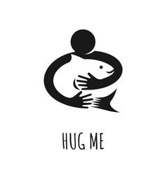 logo design preserve fish concept vector image