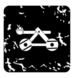 Medieval catapult icon grunge style vector