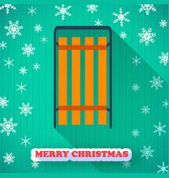 Merry christmas holiday postcard vector