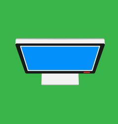Monitor screen top view display icon above vector