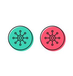 Multichannel line icon multitasking sign vector