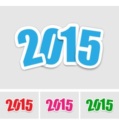 New year 2015 stickers vector
