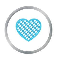 Oktoberfest heart icon in cartoon style isolated vector