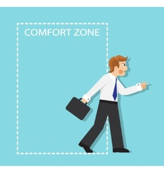 Out comfort zone vector