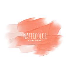 Pastel peach pink orange watercolor texture vector