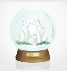 realistic christmas ball vector image