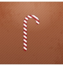 Realistic Christmas white red striped Candy Cane vector image