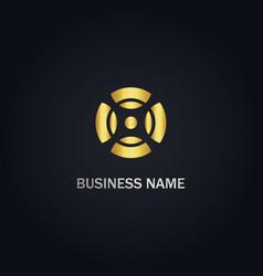 round x sign company logo vector image