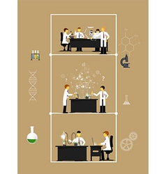 scientists in lab with making research vector image