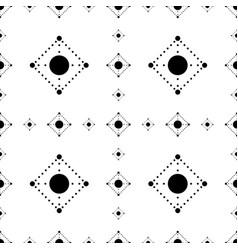 seamless abstract pattern circles and dots vector image