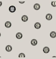 Seamless pattern prints us federal banks vector