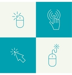 Set icon Computer mouse vector image