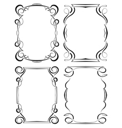 set of four elegant framework vector image
