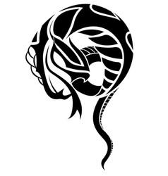 snake in eps10 vector image