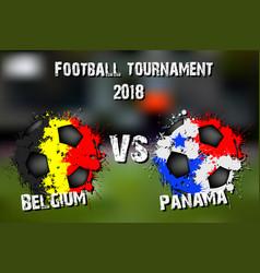 soccer game belgium vs panama vector image