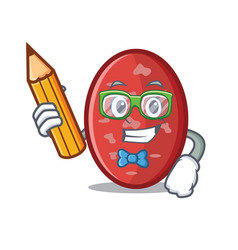Student salami character cartoon style vector