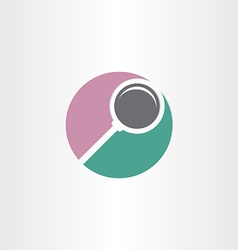 Stylized search magnifier symbol vector