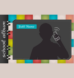 template of a school album businessman vector image