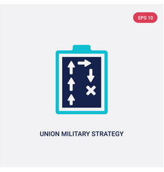 two color union military strategy icon from army vector image