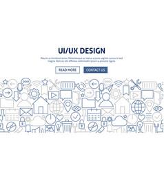 ui ux banner design vector image