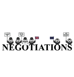 UK exit negotiations from the European Union vector image