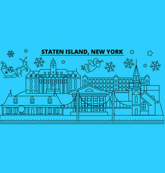 united states new york staten island winter vector image