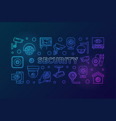 Video security colored horizontal banner vector