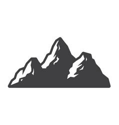 vintage mountains landscape silhouette concept vector image