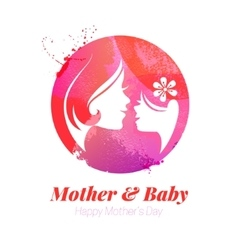 watercolor effect of mother vector image