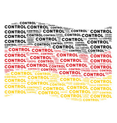 waving german flag pattern of control text items vector image