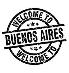 Welcome to buenos aires black stamp vector