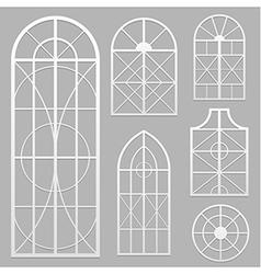 window set white vector image