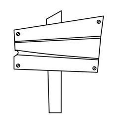 wooden board signal vector image