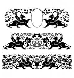 antique heraldic ornaments vector image vector image