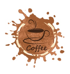coffee design over background vector image vector image