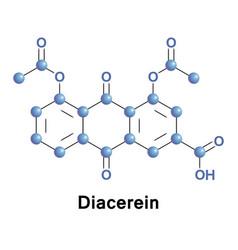 diacerein or diacetylrhein anthraquinone vector image vector image