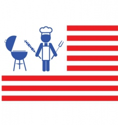 flag of barbecue vector image vector image