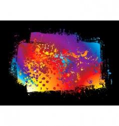 grunge rainbow banner vector image vector image