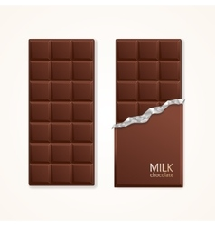 Milk Chocolate Package Bar Blank vector image