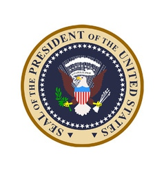 Seal of the president of the united states of vector
