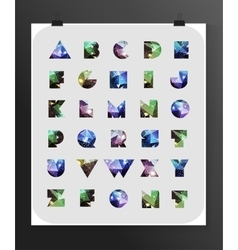 Abstract polygonal letter in Cosmic style vector image vector image