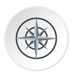 Ancient compass icon circle vector