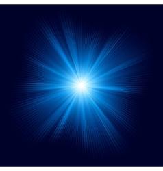 Blue color design with burst EPS 10 vector image