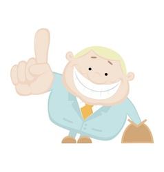 cartoon salesman vector image vector image
