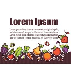 Fresh farm fruit background for fresh juice bar vector
