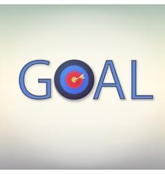 Goal icon vector image vector image